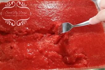 Stirring Strawberry Lemon Granita