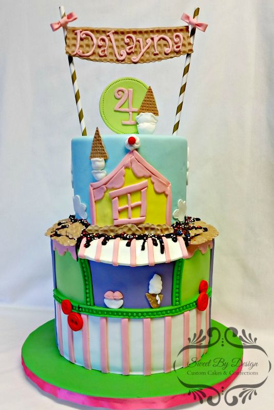 Ice Cream Shop Birthday Cake Dallas Plano Allen Rowlett Wylie