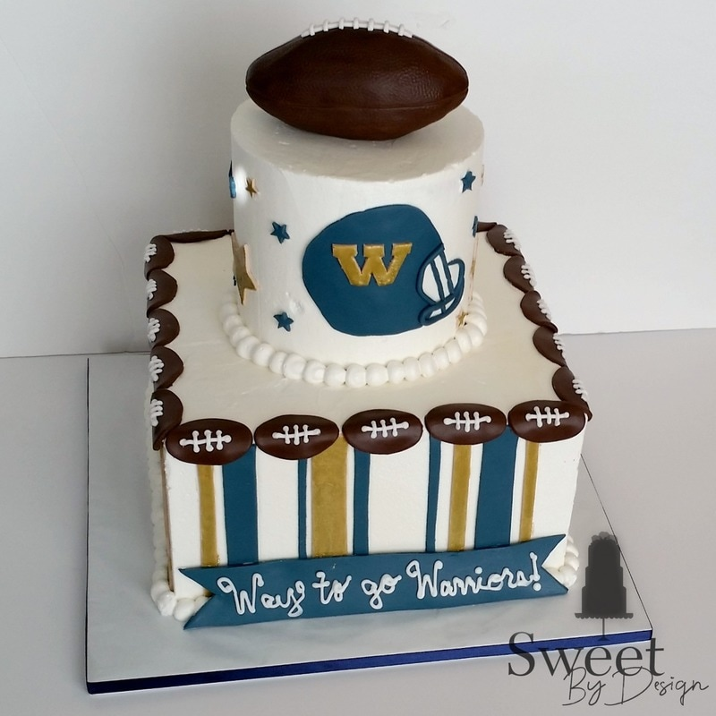 Football cake by Sweet By Design in Melissa, TX