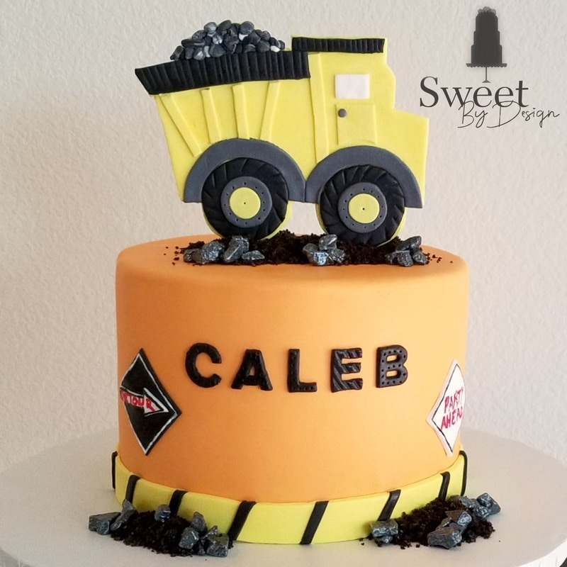 Construction truck birthday cake by Sweet By Design in Melissa, TX