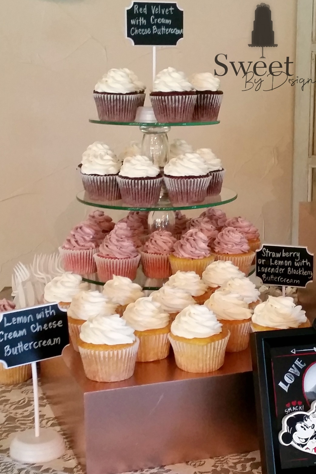 Cupcake tower by Sweet By Design in Melissa, TX