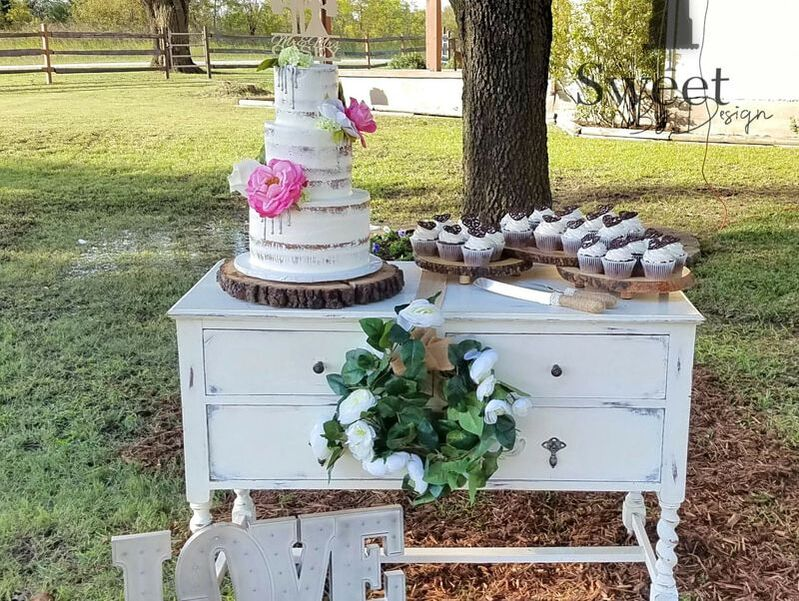 Naked cake and cupcakes by Sweet By Design
