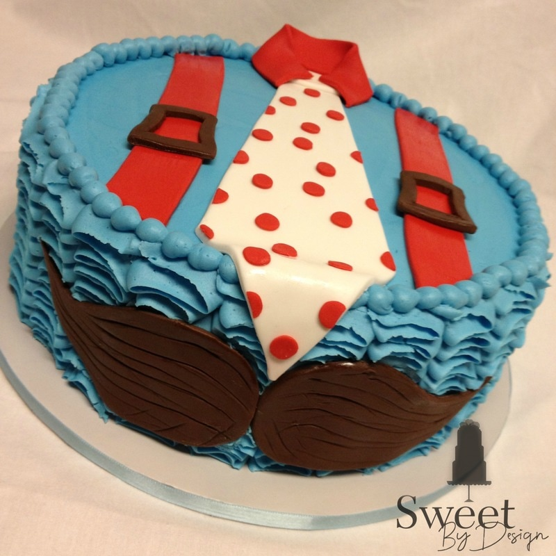 Father's Day mustache cake by Sweet By Design in Melissa, TX
