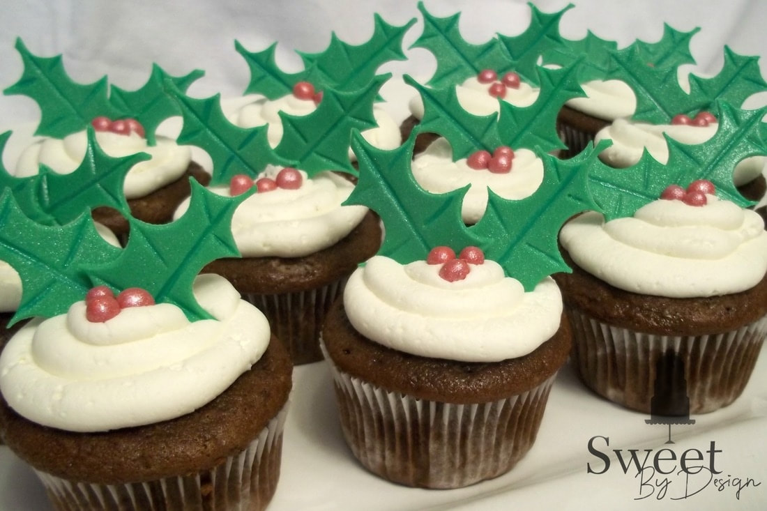 Custom Christmas Cupcakes by Sweet By Design in Melissa, TX