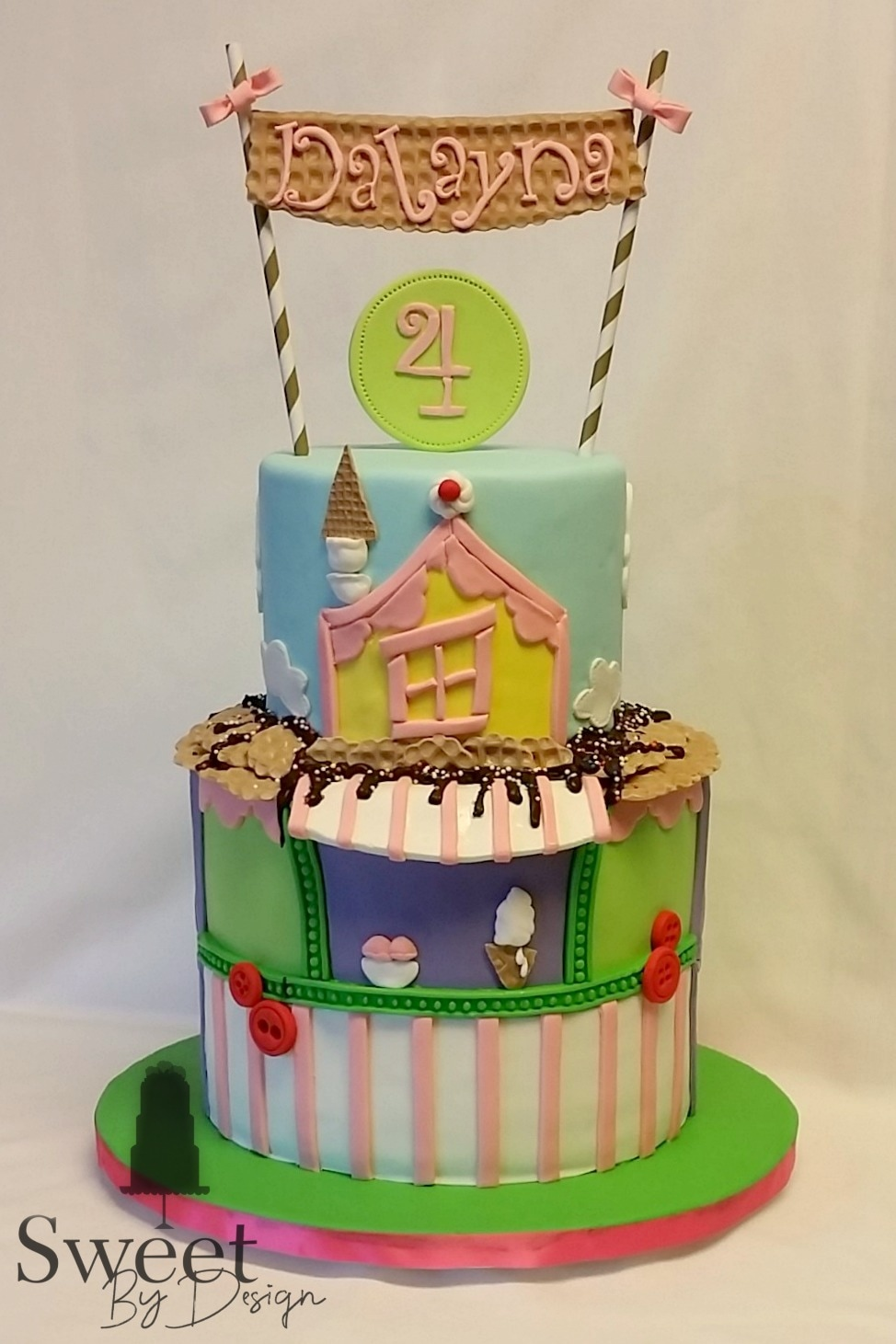 Ice Cream Shop birthday cake by Sweet By Design in Melissa, TX