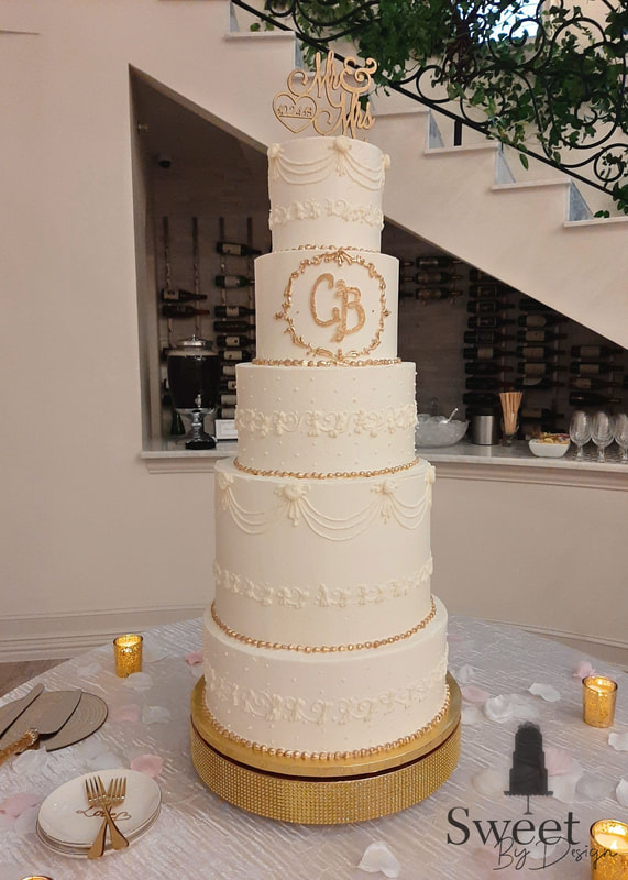 Buttercream scroll wedding cake by Sweet By Design