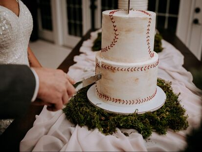 Baseball groom's cake by Sweet By Design in Melissa, Texas