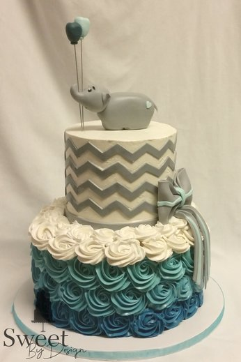 Elephant boy baby shower cake by Sweet By Design in Melissa, TX