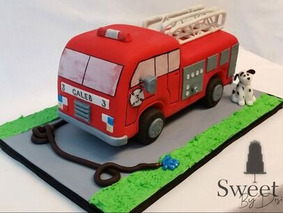 Firetruck cake by Sweet By Design in Melissa, Texas