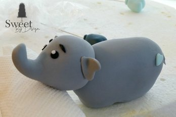 Fondant elephant cake topper by Sweet By Design in Melissa, TX
