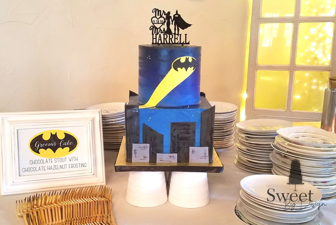 Super hero groom's cake by Sweet By Design