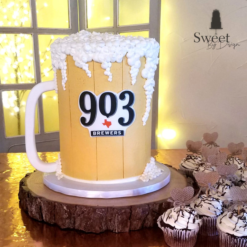 Beer mug groom's cake by Sweet By Design