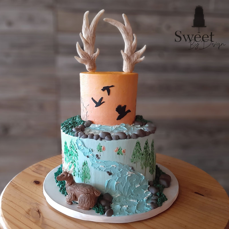 Deer and duck hunting cake by Sweet By Design