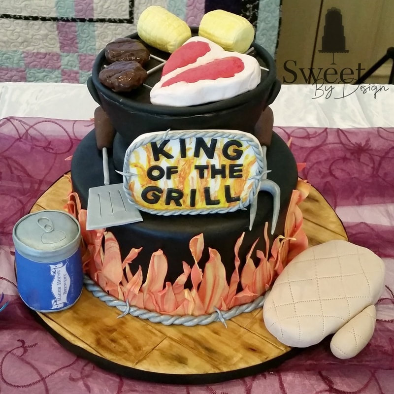 Grill groom's cake by Sweet By Design
