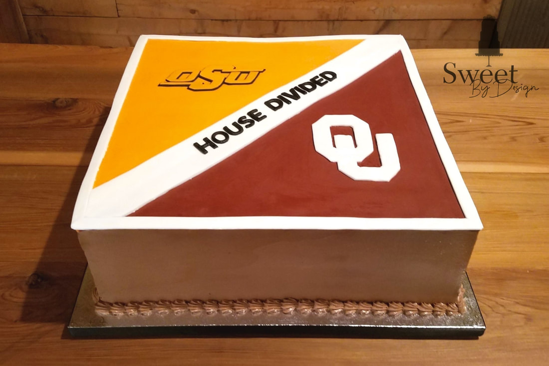 House divided groom's cake by Sweet By Design