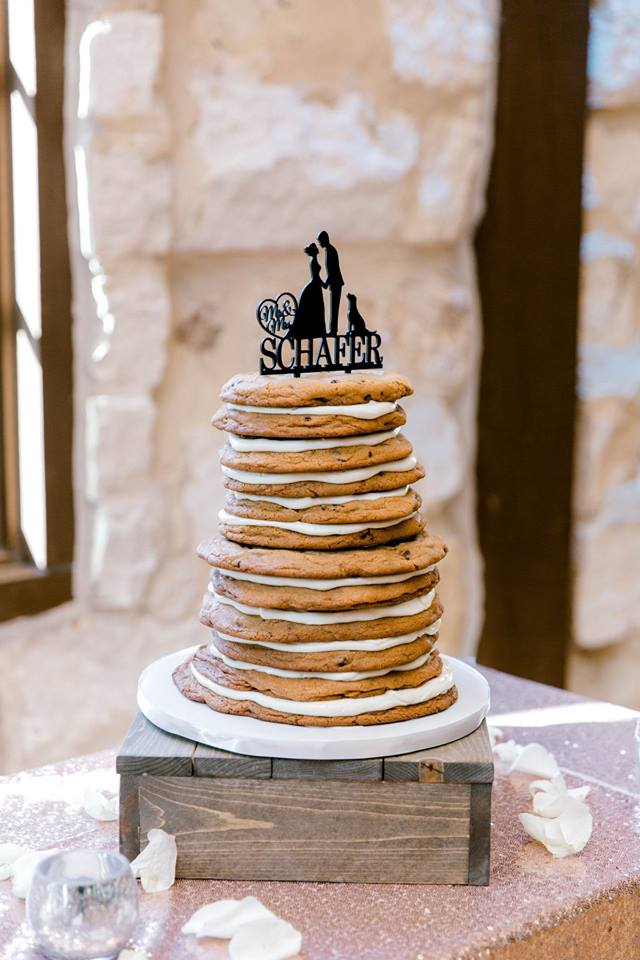 Chocolate Chip Cookie groom's cake by Sweet By Design