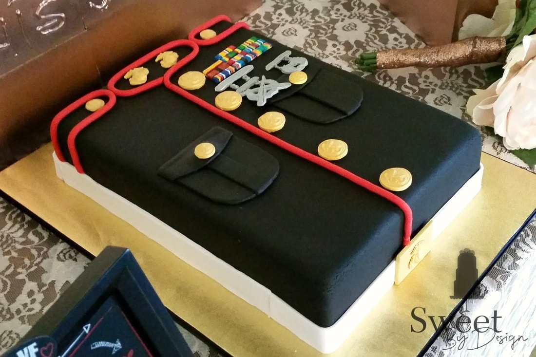 Marines groom's cake by Sweet By Design