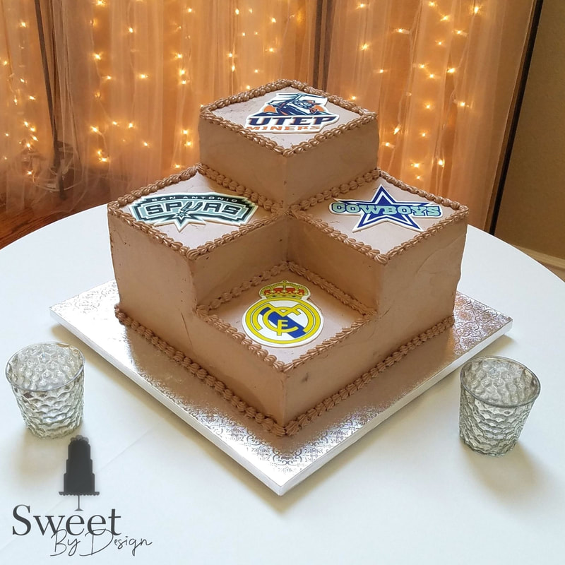 Stairstep groom's cake by Sweet By Design